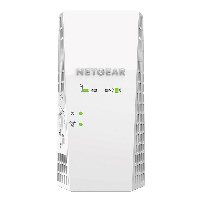 Netgear Nighthawk X4 WiFi Range Extender, White Reliable coverage and rapid streaming are all yours with this Netgear Nighthawk range extender. Boosts your existing network range and speed, delivering extreme dual band Wi-Fi up to 2200Mbps over a range of up to 10,000 ft. MU-Mimo offers faster simultaneous streaming to multiple devices FastLane technology improves performance by using both Wi-Fi bands High-powered amplifiers and internal antenna array increase range Works with any standard Wi-Fi router and is ideal for HD video streaming and gaming 6.3 H x 3.2 W x 1.8 D Weight: 0.7 lbs. Connectors: 110/100/1000 Ethernet ports with auto-sensing technology Wireless: Ieee 802.11 b/g/n 2.4GHz, Ieee 802.11 a/n/ac 5GHz Manufacturer's 1-year limited warrantyFor warranty information please click here For information about the modified return policy, please click here Model no. EX7300-100NAS Size: One Size. Color: White.
