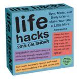 Life Hacks 2018 Desk Calendar