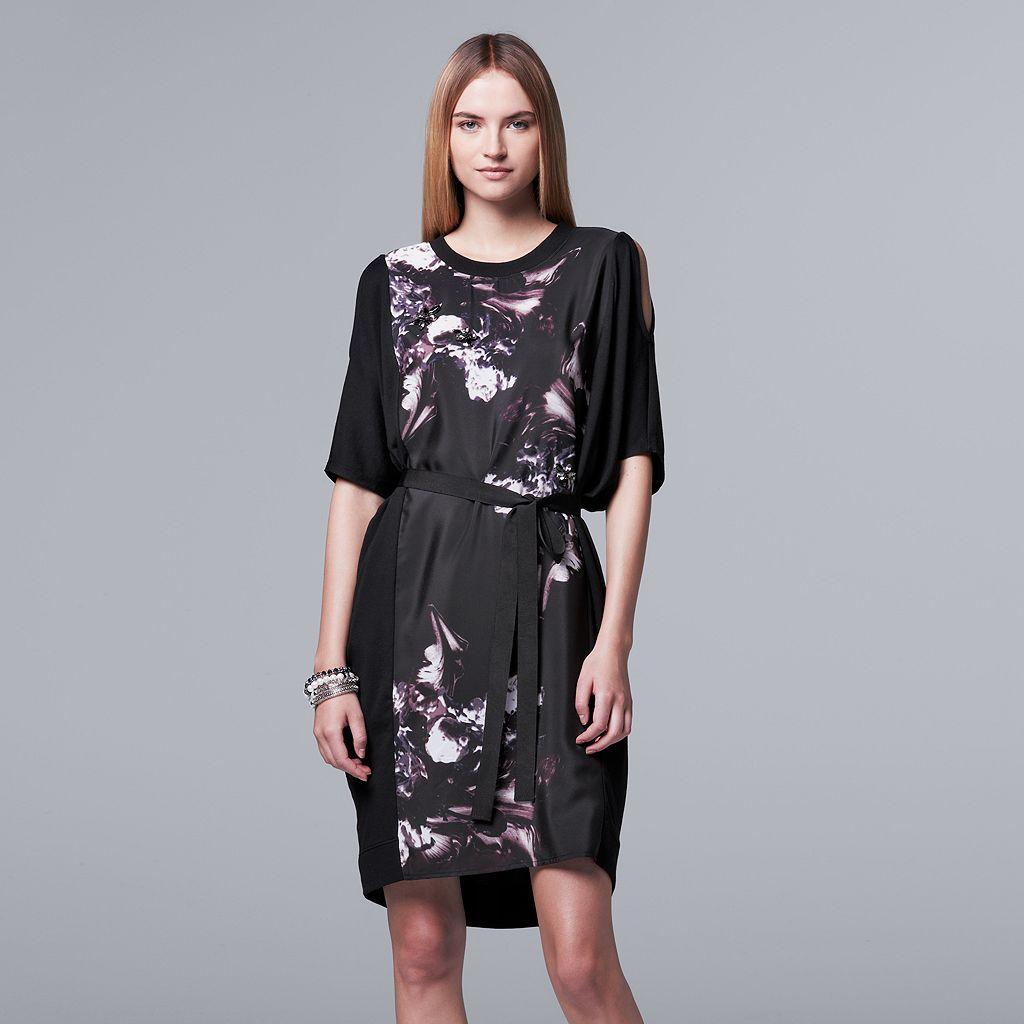 Women's Simply Vera Vera Wang Mixed-Media Shift Dress