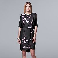 Women's Simply Vera Vera Wang Mixed-Media Shift Dress