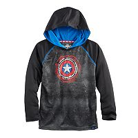 Boys 4-7x Marvel Hero Elite Series Captain America Collection for Kohl's Raglan Shield Hoodie