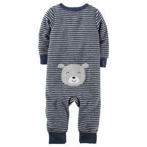 Baby Boy Carter's Striped Sleep & Play, Bear Hat & Bib Set
