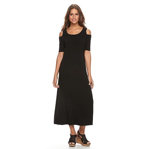 Women's Tiana B Cold-Shoulder Maxi Dress