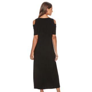 Women's Tiana B Cold-Shoulder Maxi Dress