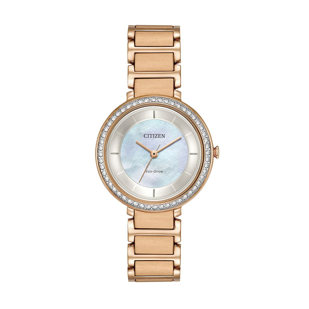 Citizen Eco-Drive Women's Silhouette Crystal Stainless Steel Watch - EM0483-54D