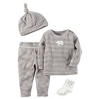 Baby Carter's 4 pc Striped Babysoft Take-Me-Home Set