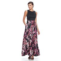 Women's Chaya Floral Colorblock Full-Length Dress