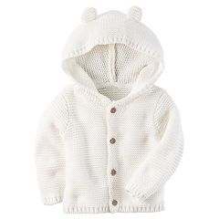 Baby Carter's Hooded Textured Sweater