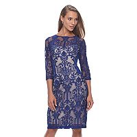 Women's Chaya Scroll Lace Sheath Dress