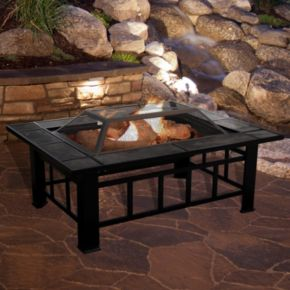 Navarro 37-in. Square Outdoor Fire Pit 4-piece Set