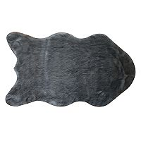 St. Nicholas Square® Shaped Solid Faux Fur Rug - 2' x 3'4