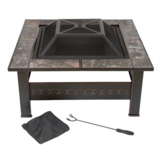 Navarro 32-in. Square Outdoor Fire Pit 4-piece Set