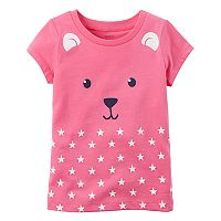 Toddler Girl Carter's Bear Polka-Dot Graphic Tee