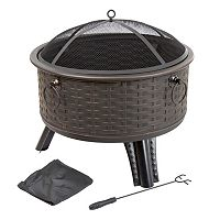 Navarro 26 in Round Outdoor Fire Pit 4 pc Set
