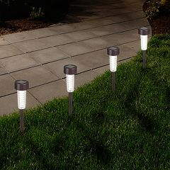 Navarro Outdoor Solar LED Path Light Garden Stake 6 pc Set