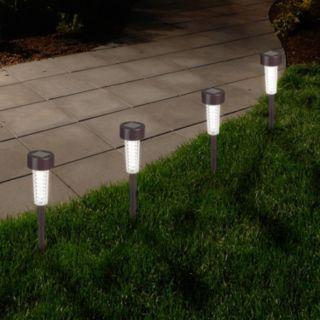 Navarro Outdoor Solar LED Path Light Garden Stake 6-piece Set