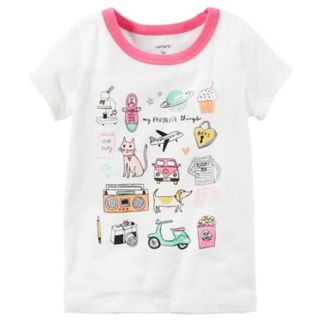 """Toddler Girl Carter's Short-Sleeve """"My Favorite Things"""" Graphic Tee"""