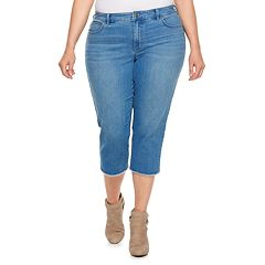 Plus Size Jennifer Lopez Raw-Edge Capri Jeans