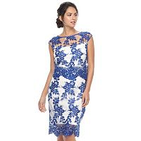 Women's Chaya Floral Mesh Overlay Sheath Dress