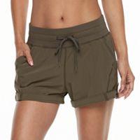 Tek Gear® Button-Tab Active Shorts