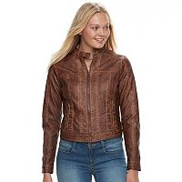 Juniors' J2 Faux-Leather Jacket