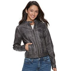 Juniors' J-2 Faux-Leather Jacket