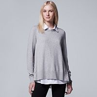 Women's Simply Vera Vera Wang Mock-Layer Lace Top