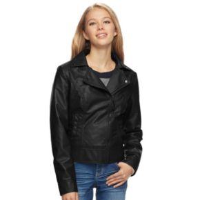 Juniors' J-2 Moto Faux-Leather Jacket