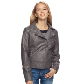 Juniors' J-2 Moto Faux-Leather Jacket