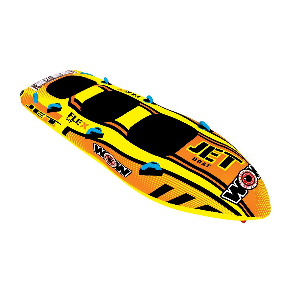Wow Watersports Jet Boat 3 Person Inflatable Towable Towing Harness