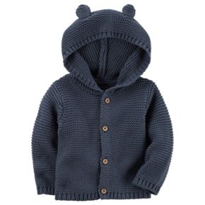 Baby Boy Carter's Hooded Textured Cardigan