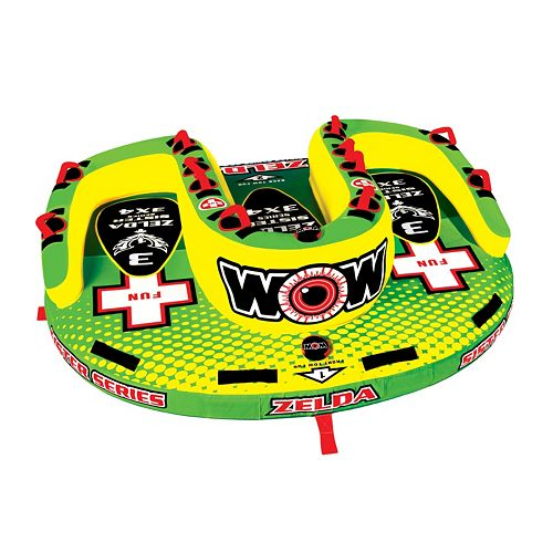 Wow Watersports Zelda 3-Person Sister Inflatable Towable Tube