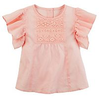 Toddler Girl Carter's Crochet Flutter Top