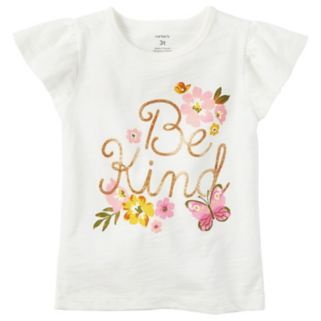 "Toddler Girl Carter's ""Be Kind"" Glittery Graphic Tee"
