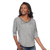 Women's Juicy Couture Marled Crisscross Tee