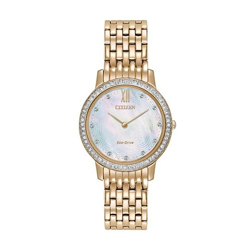 Citizen Eco-Drive Women's Silhouette Crystal Stainless Steel Watch - EX1483-50D
