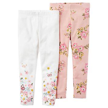 Toddler Girl Carter's 2pk. Floral Leggings