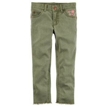Toddler Girl Carter's Floral Embroidered Pants