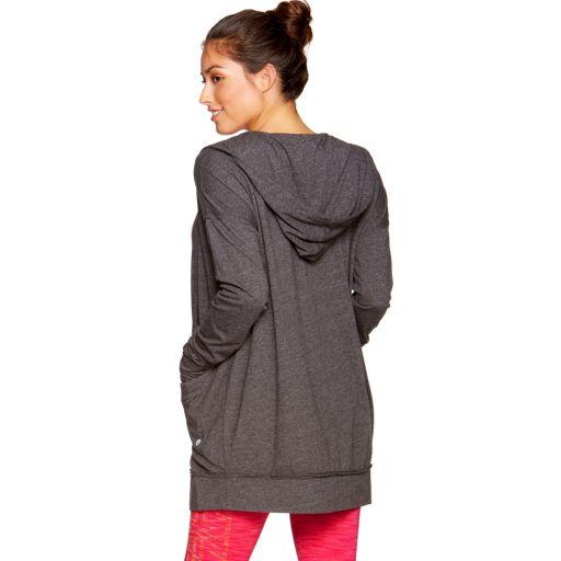 Women's Colosseum Hooded Long Sleeve Cardigan