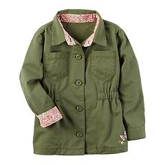 Toddler Girl Carter's Floral Cuffs Jacket