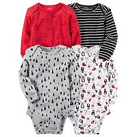 Baby Boy Carter's 4 pkLong Sleeved Printed Bodysuits
