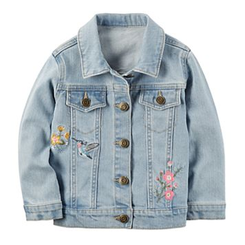 Toddler Girl Carter's Embroidered Denim Jacket