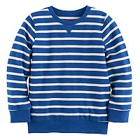 Boys 4-10 Jumping Beans® Reverse Striped Sweatshirt Tee
