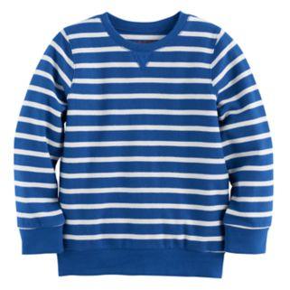 Boys 4-10 Jumping Beans® Reverse Striped Sweatshirt Tee