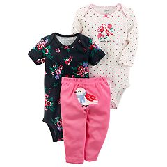 Baby Girl Carter's Floral 'Daddy's Girl' Bodysuit & Bird Pants Set