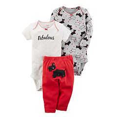 Baby Girl Carter's 'Fabulous'  Scottie Dog Bodysuit & Pants Set