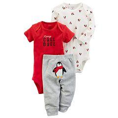 Baby Boy Carter's 'Mommy's Cool Dude' Penguin Bodysuit & Pants Set