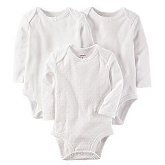 Baby Girl Carter's 3-pk. Textured White Bodysuits