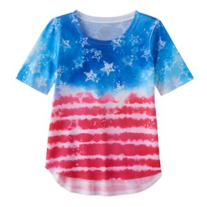 Girls 7-16 & Plus Size SO® Americana Flag Sublimated Graphic Tee