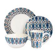 American Atelier Diamond Metallic 16 pc Dinnerware Set